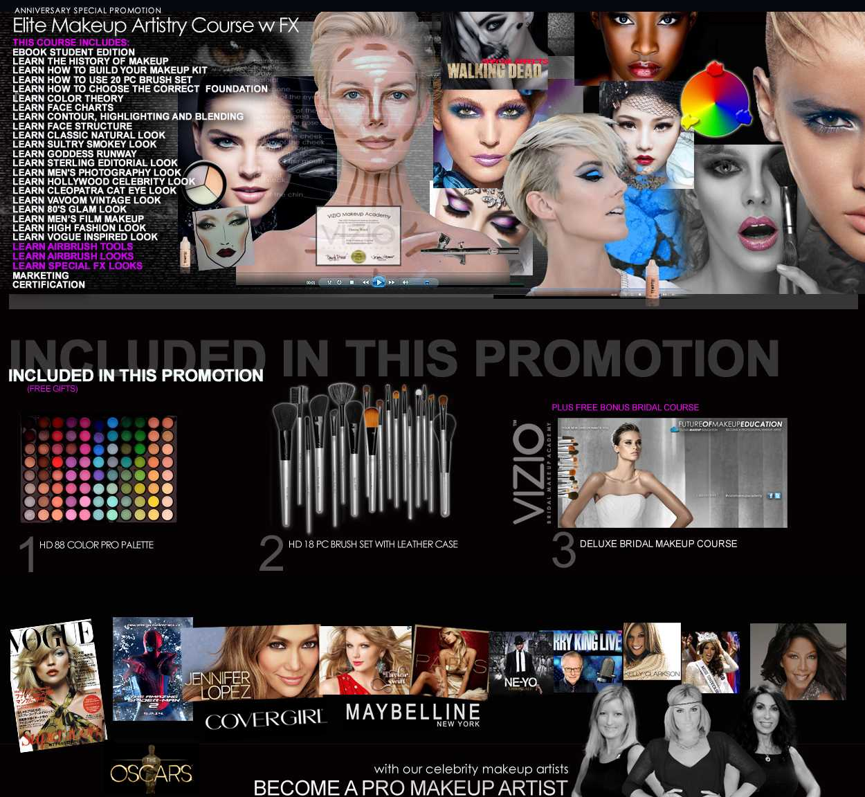New Vizio Makeup Academy Special Promotion Vizio Makeup School