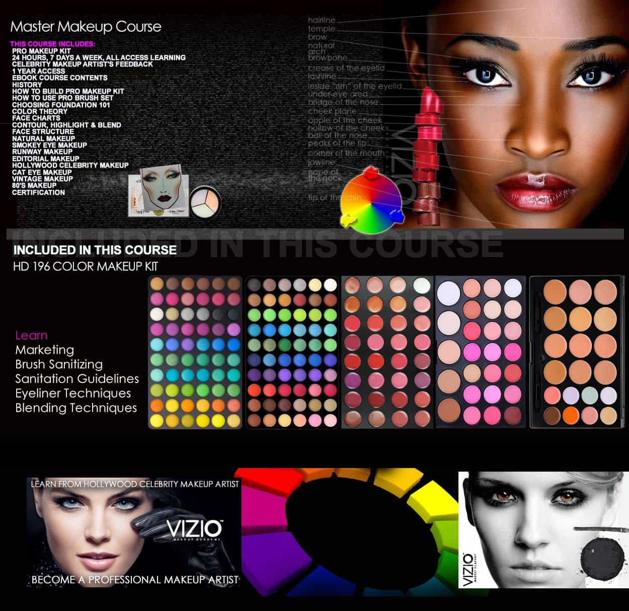master makeup classes online vizio makeup academy. Black Bedroom Furniture Sets. Home Design Ideas